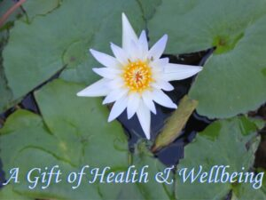 Gift voucher with picture of a lotus flower